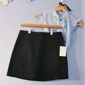 Free People Black Denim Skirt New With Tags